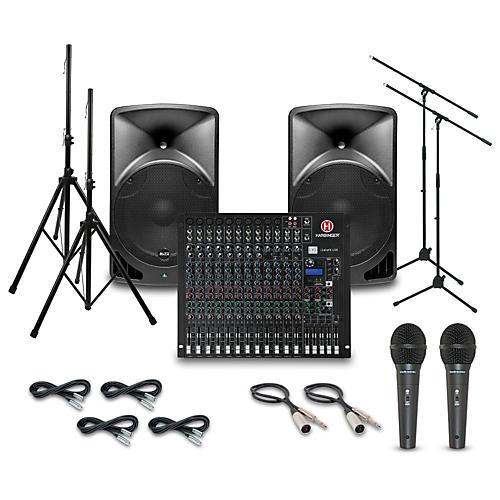 Alto TX15USB with Harbinger L1202FX Mixer PA System