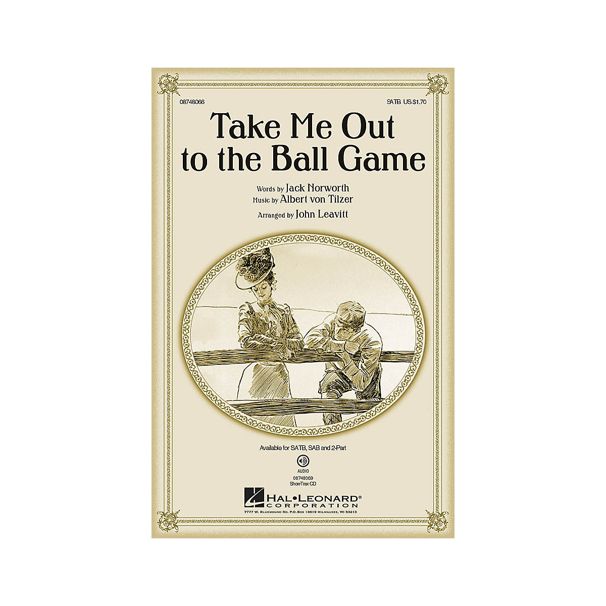 Hal Leonard Take Me Out to the Ball Game 2-Part Arranged by John Leavitt