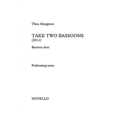 Novello Take Two Bassoons Music Sales America Series Book by Thea Musgrave