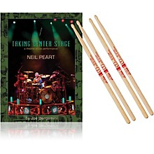 Hudson Music Taking Center Stage Book and Neil Peart Autograph Stick Pack
