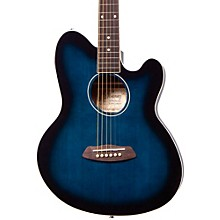 Talman TCY10 Acoustic-Electric Guitar Transparent Blue Sunburst