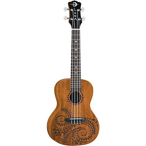 Luna Guitars Tattoo Concert Ukulele