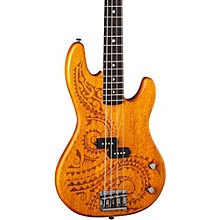 Luna Guitars Tattoo Long Scale Electric Bass