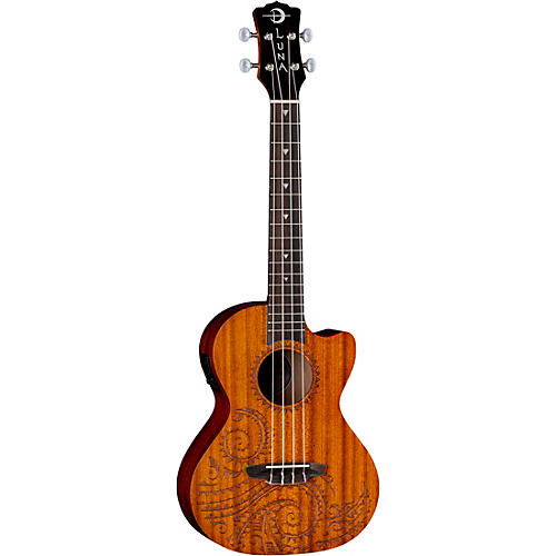 Luna Guitars Tattoo Mahogany Tenor Acoustic-Electric Ukulele