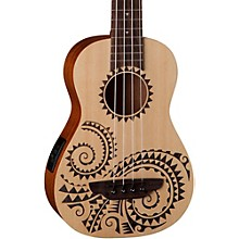 Luna Guitars Tattoo Ukulele Acoustic-Electric Bass