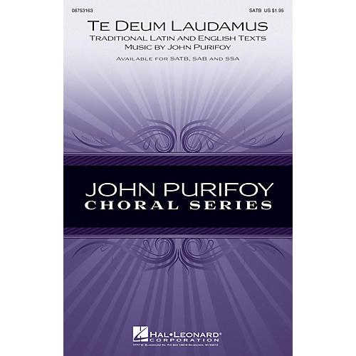 Hal Leonard Te Deum Laudamus SAB Composed by John Purifoy
