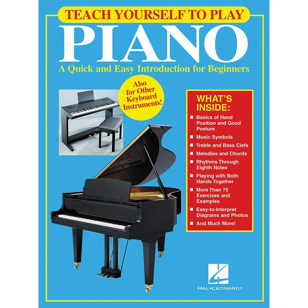 Hal Leonard Teach Yourself to Play Piano Book