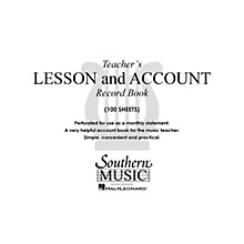 Southern Teacher's Lesson and Account Record Book Southern Music Series