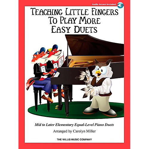 Hal Leonard Teaching Little Fingers To Play - More Easy Duets Book/CD 1 Piano 4 Hands