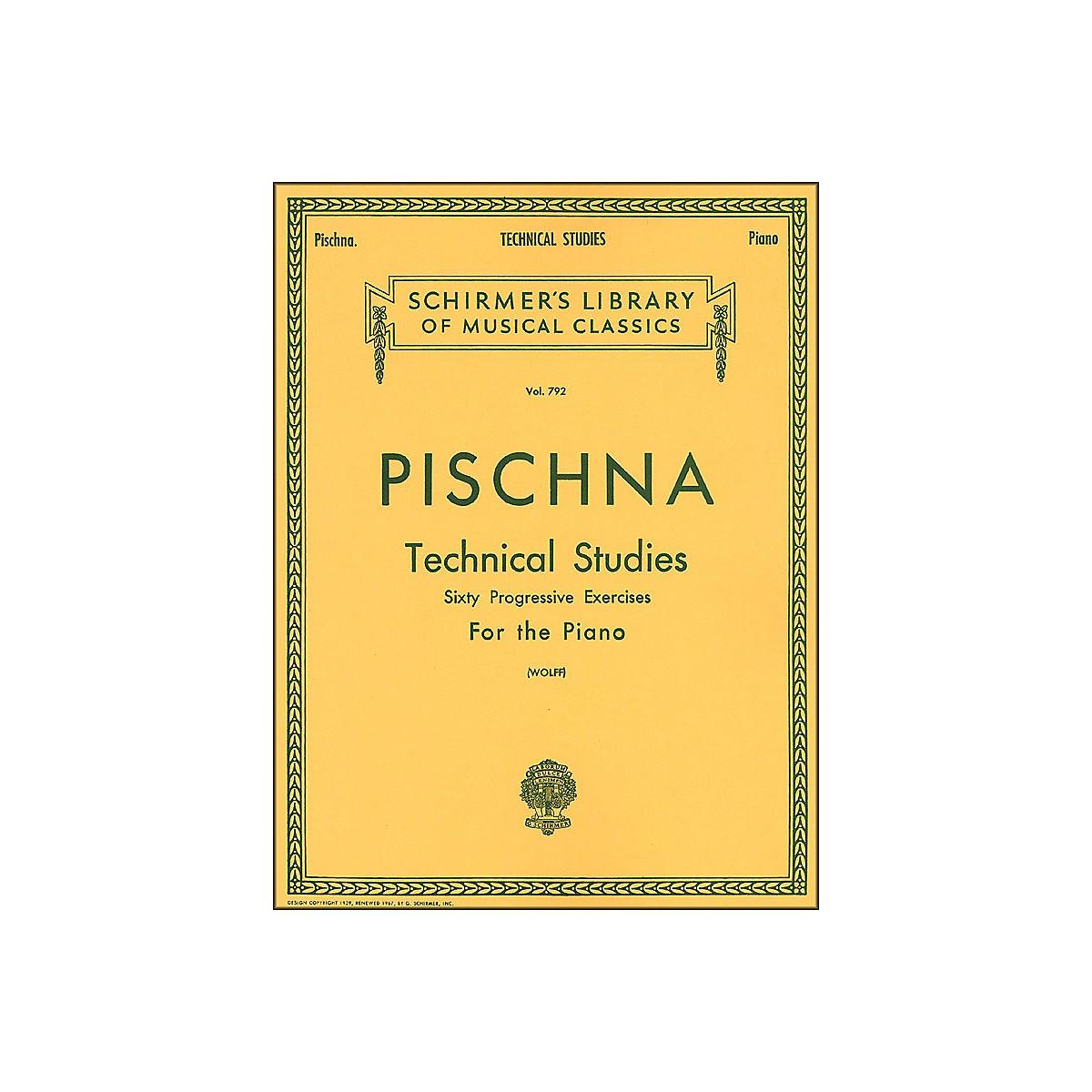 G. Schirmer Technical Studies Piano 60 Progressive Exercises By Pischna