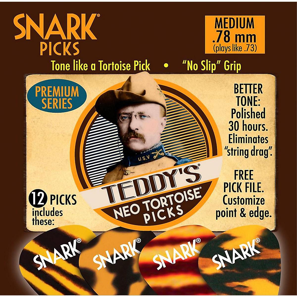 Snark Teddys Neo Tortoise Premium Series Guitar Picks - 12-Pack