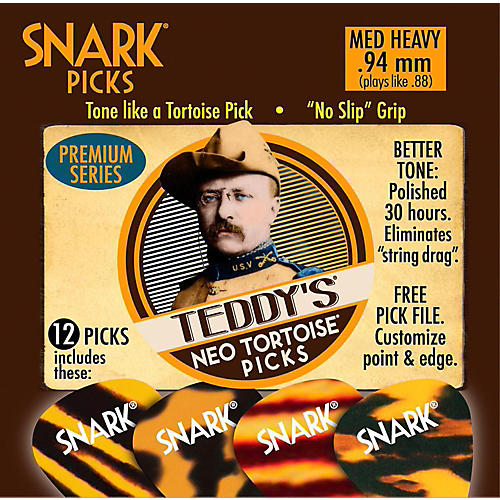 Snark Teddys Neo Tortoise Premium Series Guitar Picks - 12-Pack