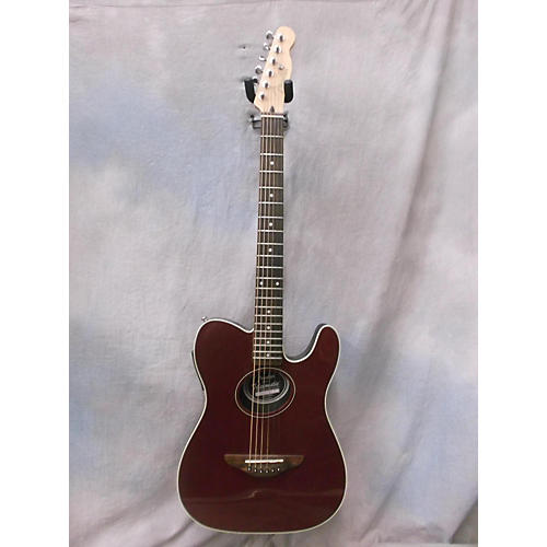 Fender Telecoustic Trans Red Acoustic Electric Guitar