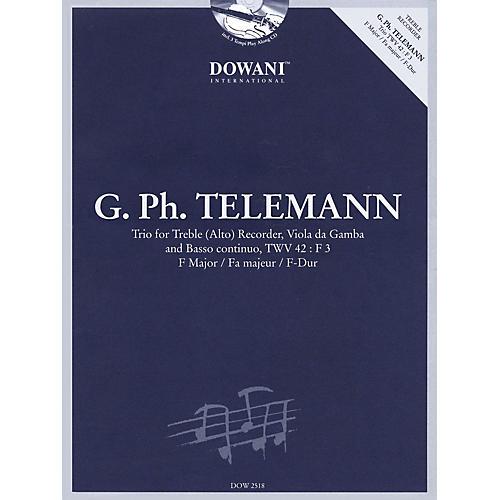 Dowani Editions Telemann: Trio for Treble (Alto) Recorder, Va, & Basso Cont TWV42 F Maj Dowani Book/CD