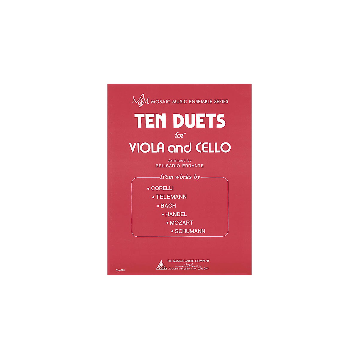 Boston Music Ten Duets for Viola and Cello (Mosaic Music Ensemble Series) Music Sales America Series
