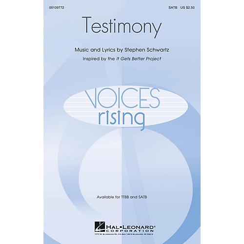 Hal Leonard Testimony SATB composed by Stephen Schwartz
