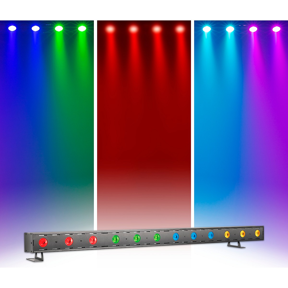 Venue Tetra Bar RGBA Linear Strip Wash Light with Four Color Zones