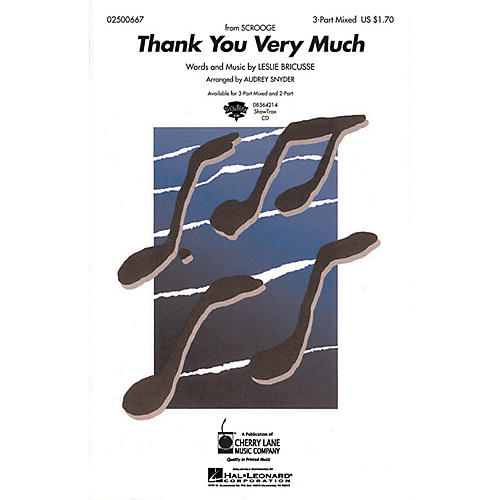 Hal Leonard Thank You Very Much ShowTrax CD Arranged by Audrey Snyder