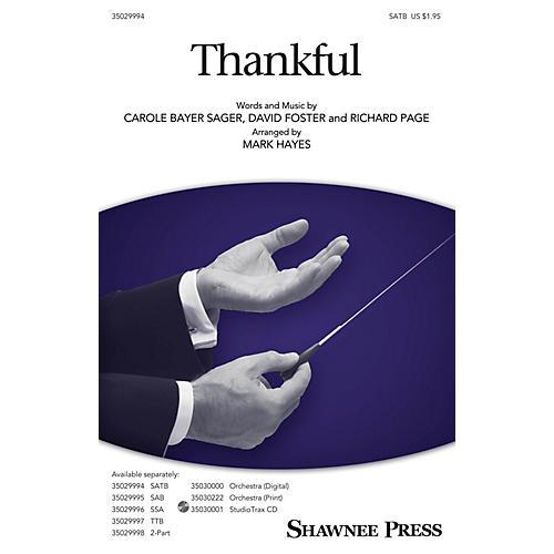 Shawnee Press Thankful Studiotrax CD Arranged by Mark Hayes