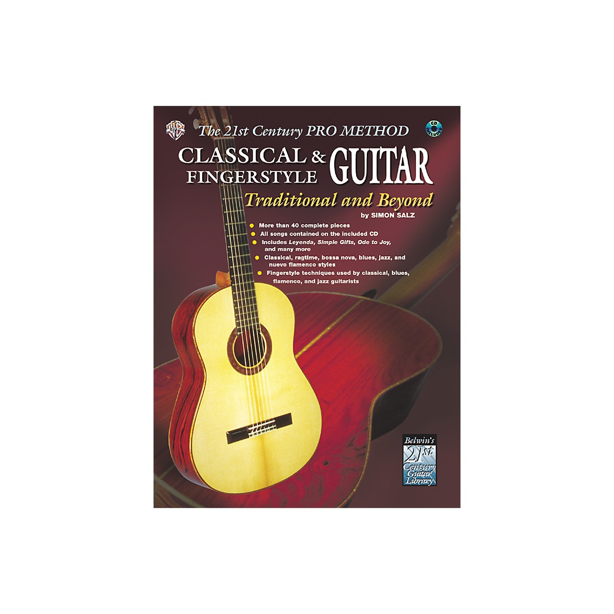 Alfred The 21st Century Pro Method: Classical & Fingerstyle Guitar Traditional & Beyond Book with CD