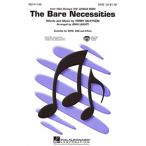 Hal Leonard The Bare Necessities (from The Jungle Book) IPAK Dixie Arranged by John Leavitt
