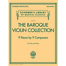 G. Schirmer The Baroque Violin Collection - 9 Pieces by 9 Composers String Solo Series Softcover
