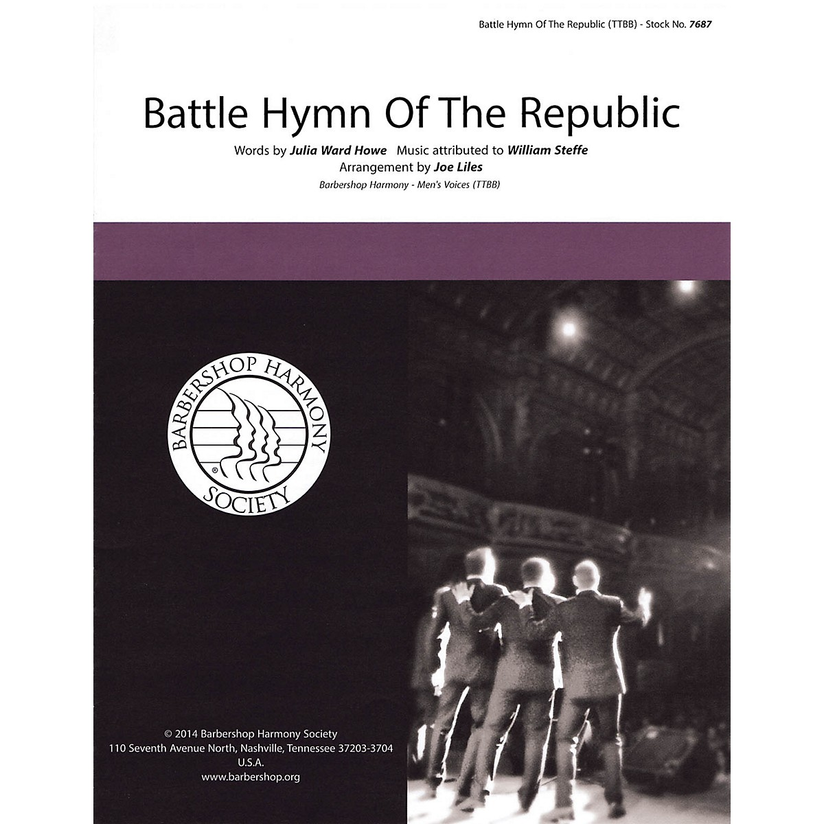 Hal Leonard The Battle Hymn of the Republic TTBB A Cappella arranged by Joe Liles