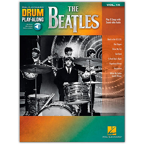 Hal Leonard The Beatles - Drum Play-Along Volume 15