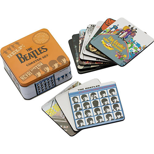 Vandor The Beatles 10 pc. Coaster Set with Collector Tin