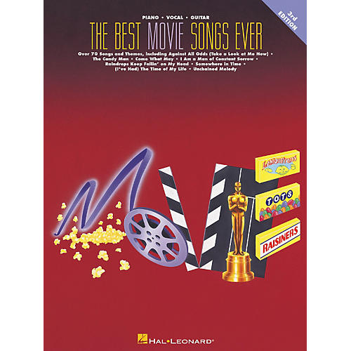 Hal Leonard The Best Movie Songs Ever 3rd Edition Piano, Vocal, Guitar Songbook