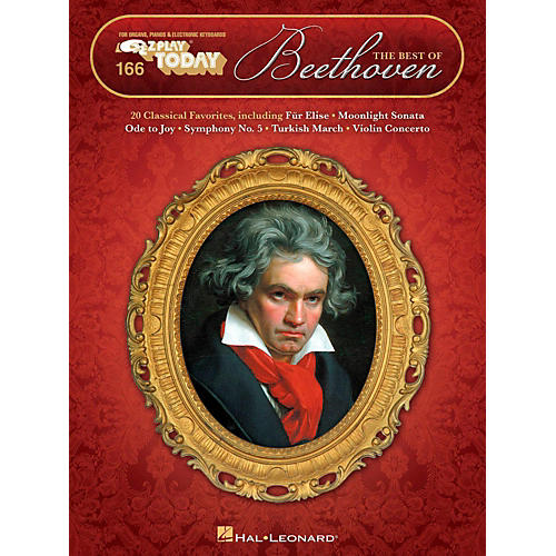 Hal Leonard The Best Of Beethoven E-Z Play Today Volume 166
