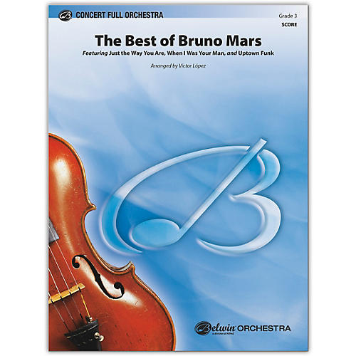 BELWIN The Best of Bruno Mars Conductor Score 3