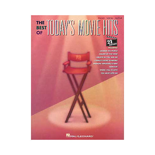 Hal Leonard The Best of Today's Movie Hits Piano, Vocal, Guitar Songbook