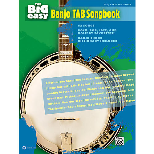 Alfred The Big Easy Banjo TAB Songbook