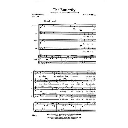 Transcontinental Music The Butterfly SATB composed by Anton Molina