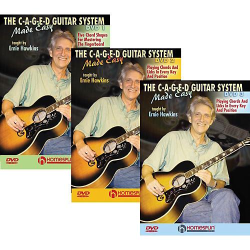 Homespun The C-A-G-E-D Guitar System Made Easy DVDs 1,2, & 3