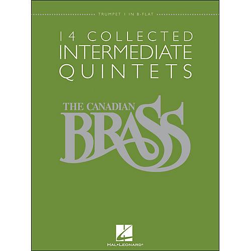 Hal Leonard The Canadian Brass: 14 Collected Intermediate Quintets - Trumpet 1 - Brass Quintet