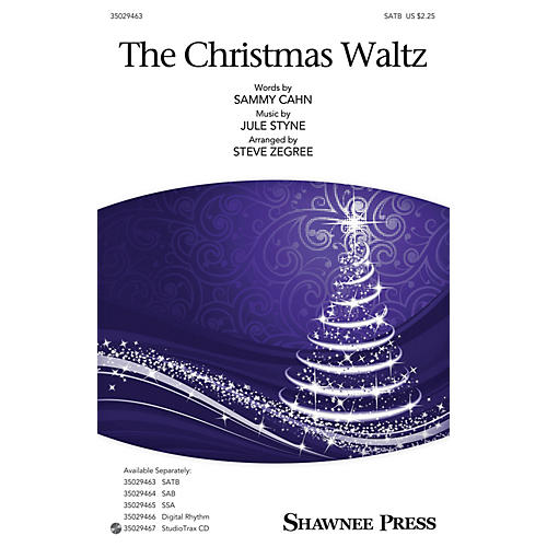 Shawnee Press The Christmas Waltz SAB Arranged by Steve Zegree