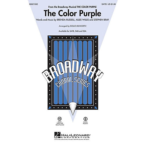 Hal Leonard The Color Purple (from The Color Purple) SATB arranged by Rollo Dilworth