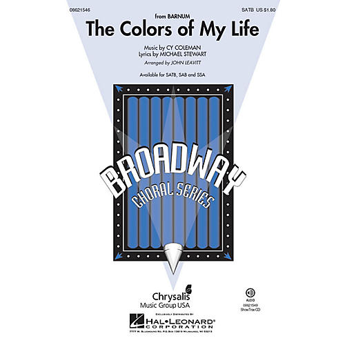 Hal Leonard The Colors of My Life (from Barnum) SAB Arranged by John Leavitt
