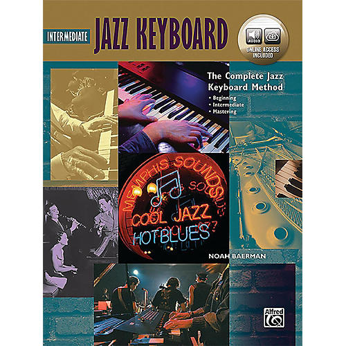 Alfred The Complete Jazz Keyboard Method - Intermediate Jazz Keyboard Book & Online Audio