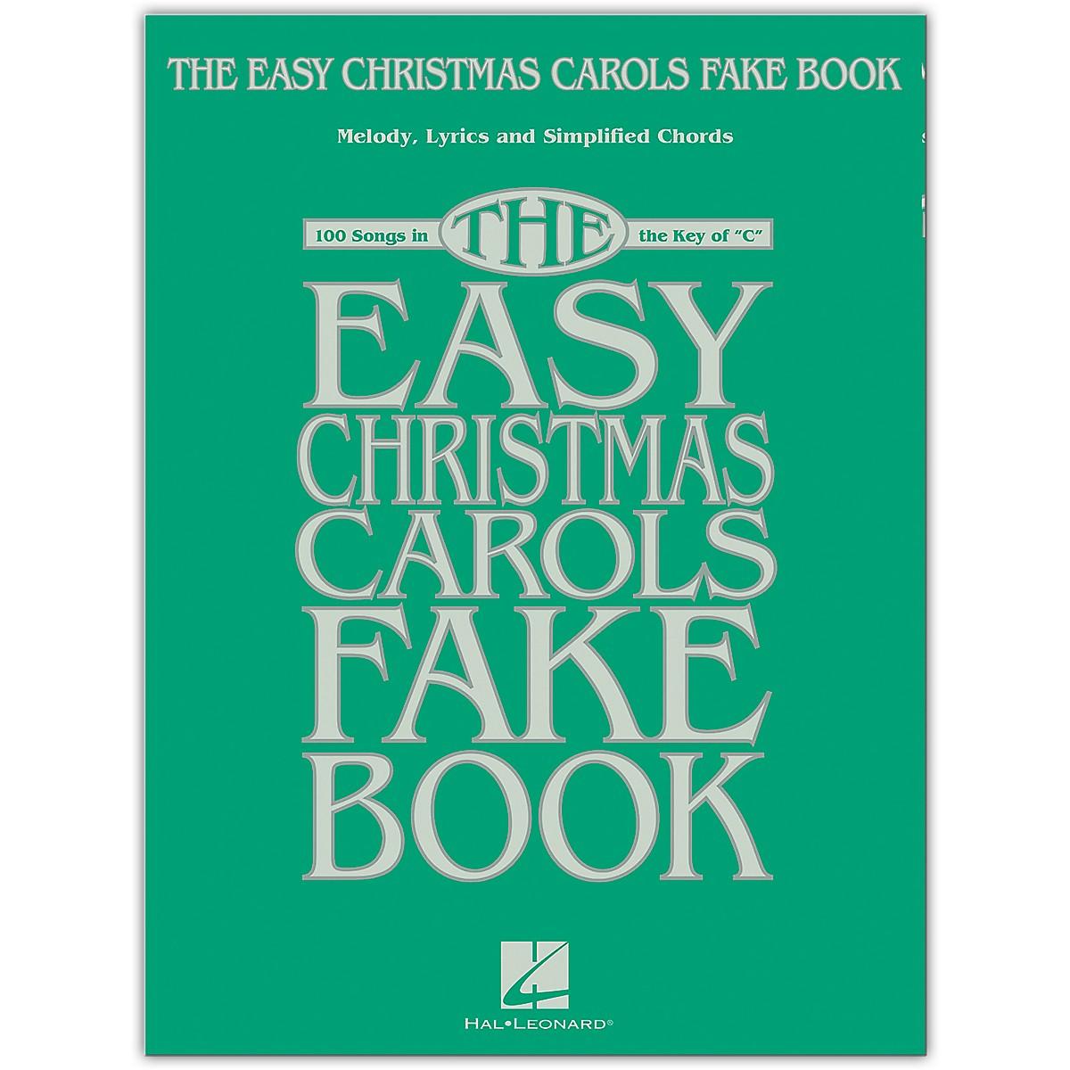 Hal Leonard The Easy Christmas Carols Fake Book - Melody, Lyrics & Simplified Chords in the Key of C