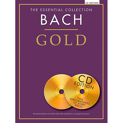 Music Sales The Essential Collection - Bach Gold For Piano Solo Book/2CDs