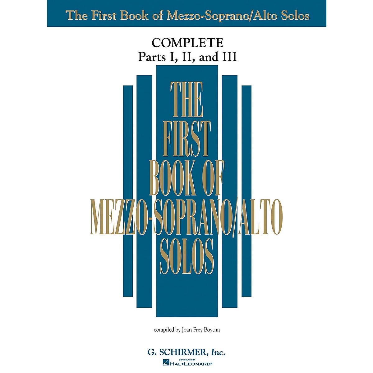 G. Schirmer The First Book Of Mezzo-Soprano/Alto Solos Complete Parts 1, 2 and 3