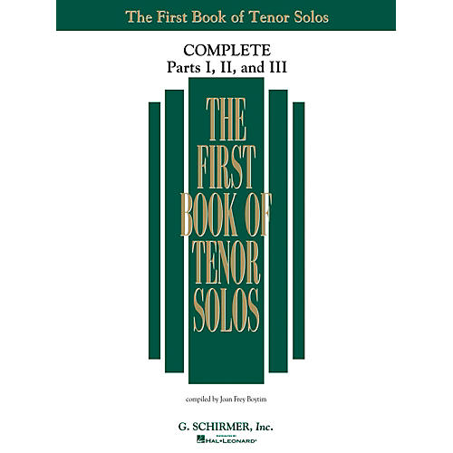 G. Schirmer The First Book Of Tenor Solos Complete Parts 1, 2 and 3