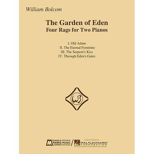 Edward B. Marks Music Company The Garden of Eden (Four Rags for Two Pianos) E.B. Marks Series Softcover Composed by William Bolcom