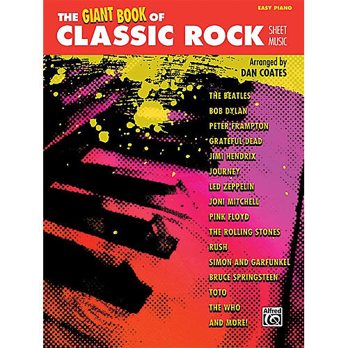 Alfred The Giant Book of Classic Rock Sheet Music Easy Piano Book