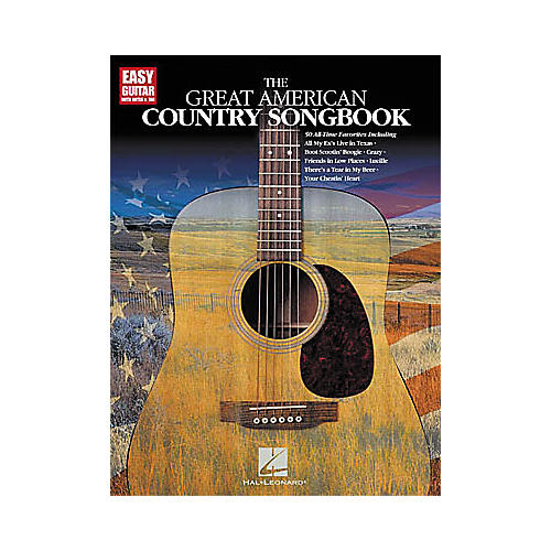 hal leonard the great american country easy guitar tab book guitar center. Black Bedroom Furniture Sets. Home Design Ideas
