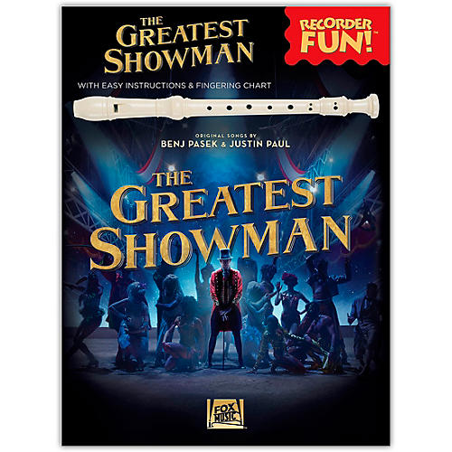 Hal Leonard The Greatest Showman - Recorder Fun! (with Easy Instructions & Fingering Chart) Recorder Songbook