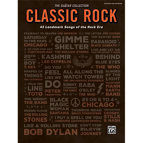 Alfred The Guitar Collection: Classic Rock 43 Landmark Songs of the Rock Era TAB Book